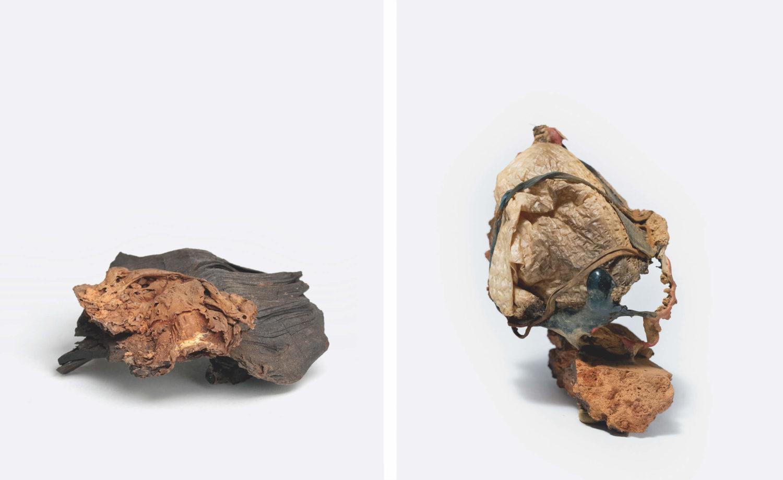 """Das Bild zeigt zwei Arbeiten der Künstlerin Silvia Noronha aus der Serie """"Shifting Geologies""""."""