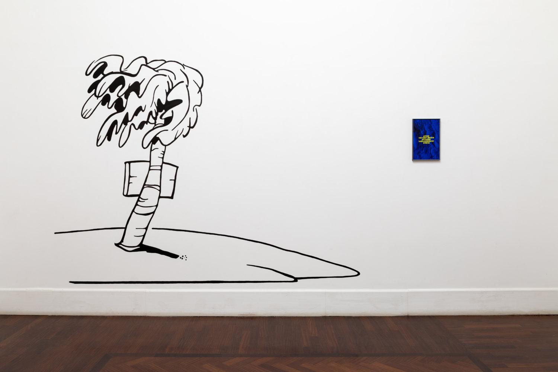 """Ausstellungsansicht der Ausstellung """"Altrove e altri canti"""" von Giovanni Giaretta in der Galleria Tiziana di Caro in Neapel"""
