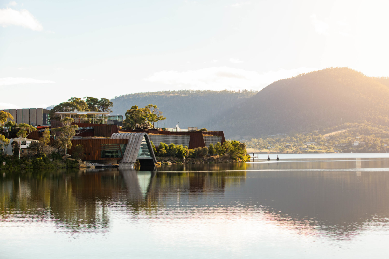 Blick auf das Mona in Tasmanien
