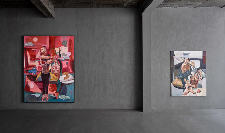 Blick in die New Child Gallery mit Werken von Tesfaye Urgessa
