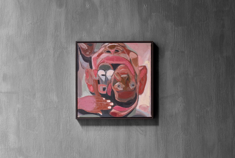 Ein Gemälde in rosa Tönen