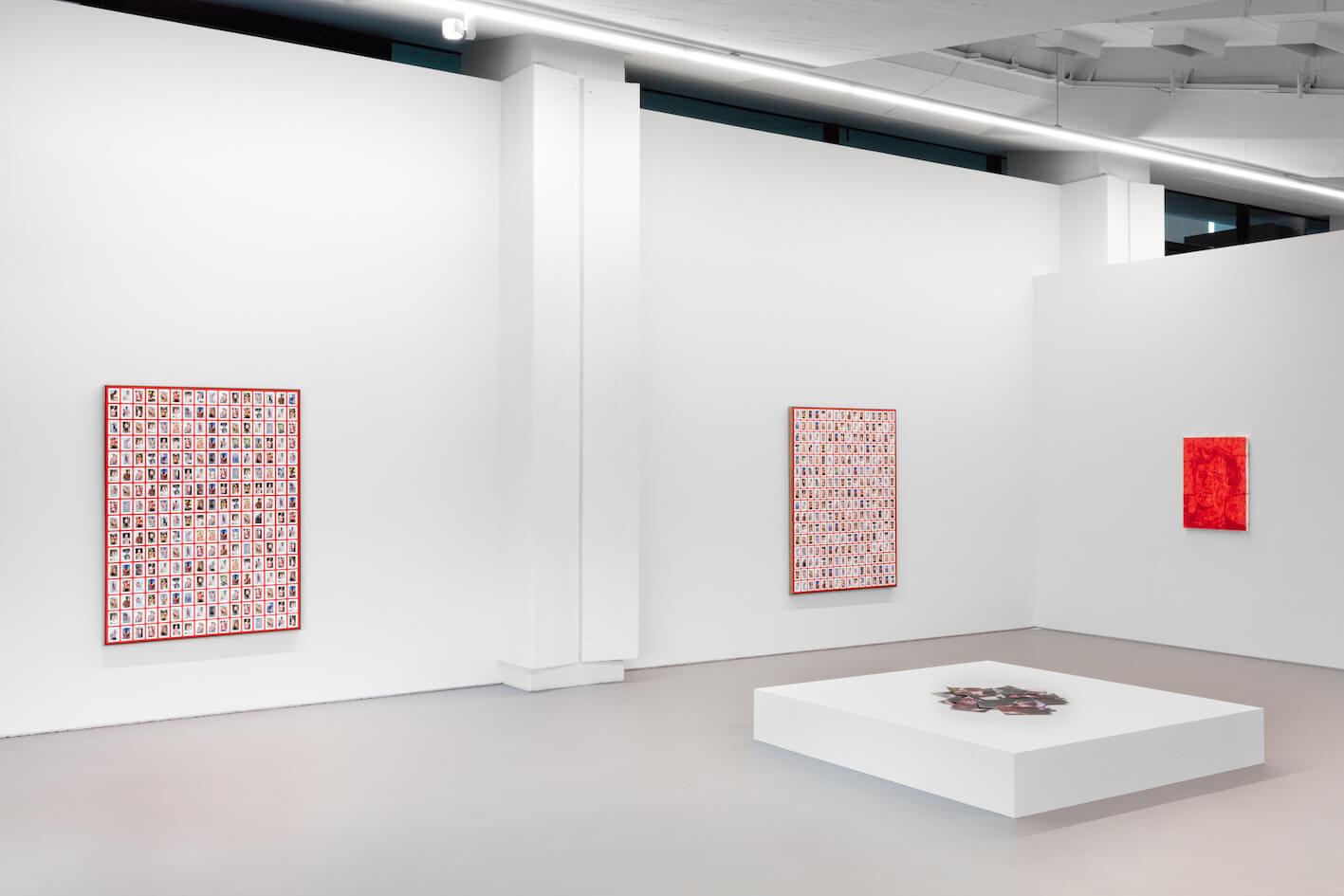 """Das Bild zeigt eine Ausstellungsansicht der Ausstellung """"Beautiful and Damned"""" des Künstlers Mitchell Anderson in der Efremidis Gallery, Berlin."""