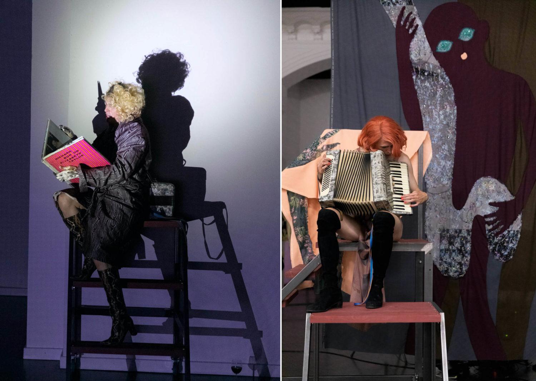Adam Christensen, Küss mich bevor du gehst, Ausstellungsansicht, Kunstverein Harburger Bahnhof, Performance