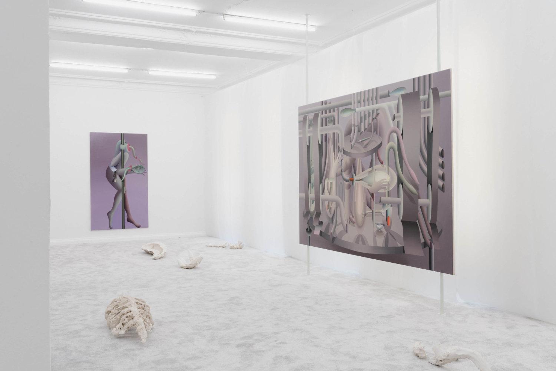 Ausstellungsansicht von Ká Quills' Room von Igor Hosnedl in der Galerie EIGEN + ART Lab in Berlin.