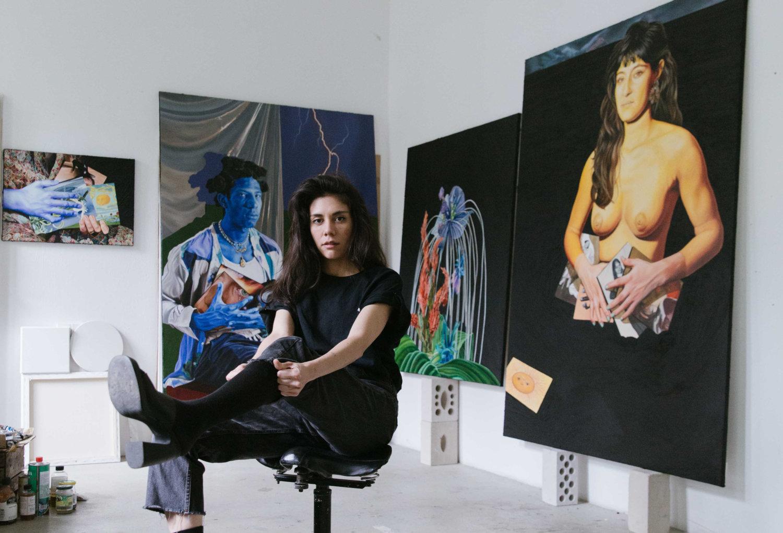 ChloëSaïBreilDupont in ihrem Atelier
