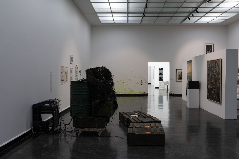 """Blick in die Ausstellung """"The Ocean"""" in der Bergen Kunsthall."""